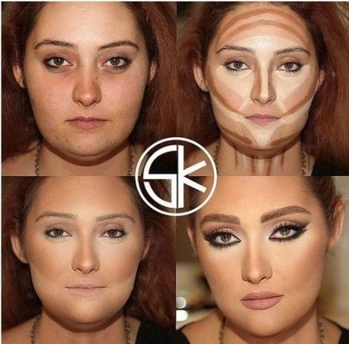 before and after contouring tutorials just trendy girls. Black Bedroom Furniture Sets. Home Design Ideas
