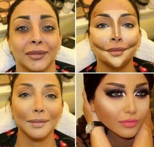 before and after contouring tutorials just trendy girls