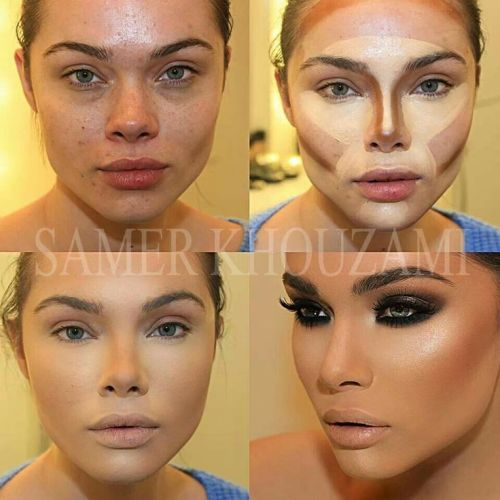Contour Face shape Makeup