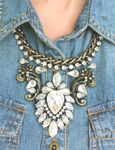 cristal statement necklace