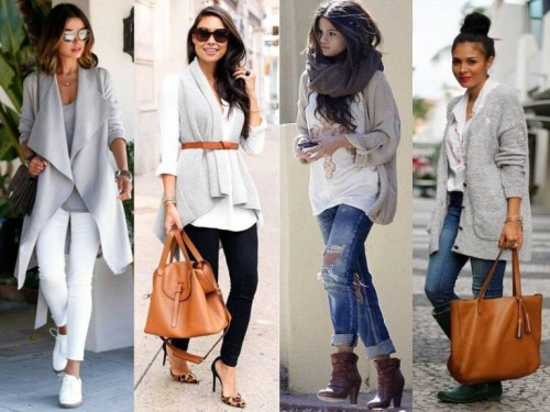 gray cardigans street outfits