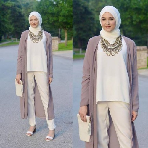 long cardigan pastel outfit