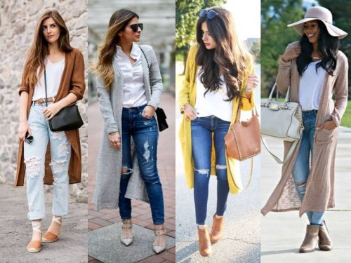 long cardigans fall looks