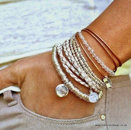 neutral bracelets for her