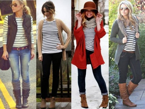 striped tops street looks