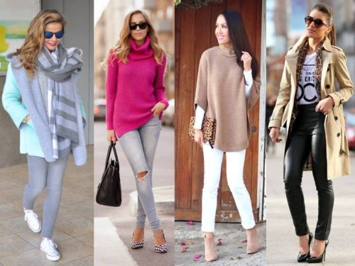 winter colorful outfits