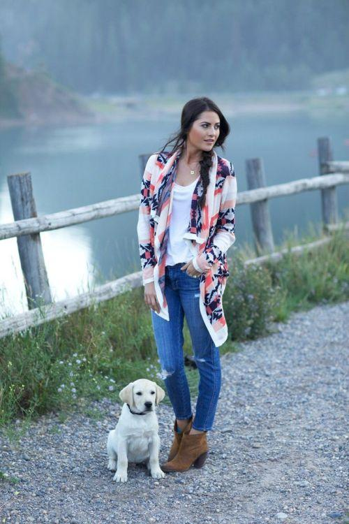 Aztec fall cardigan outfit