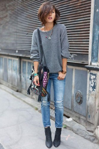 ankle boots street look