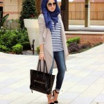 Fall stylish hijab street looks