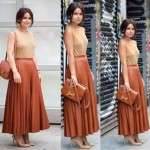How to style your maxi skirt in winter