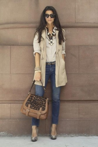 fall vest in neutral tones