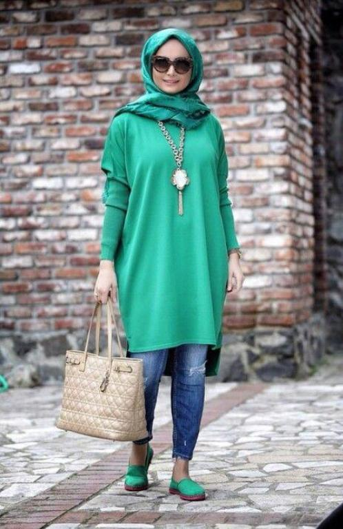Modest street hijab fashion – Just Trendy Girls