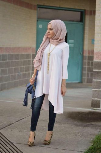 hijab tunic with jeans