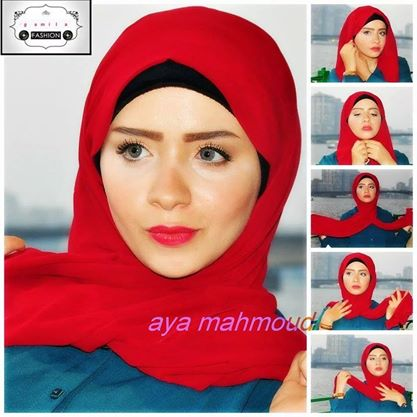 hijab tutorial red scarf