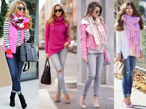how to wear pink in the street