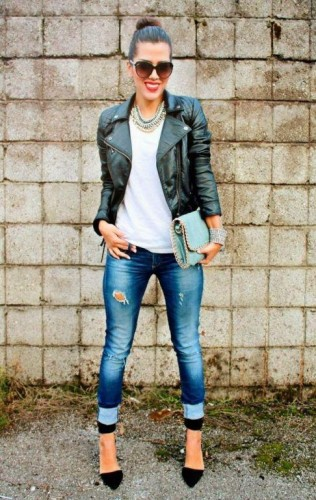 leather jacket styling ideas