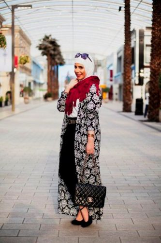 long cardigan hijab look
