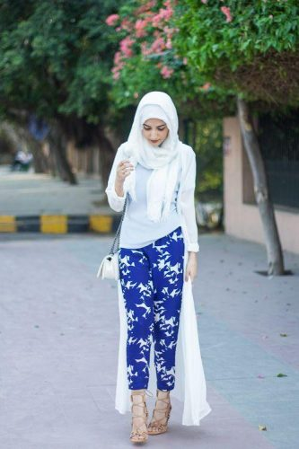 long lace cardigan hijab style