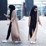 Modest street hijab fashion