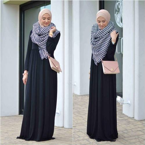 maxi dress with scarf styling idea