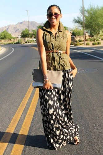 military vest with skirt