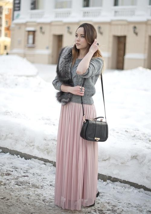 How To Style Your Maxi Skirt In Winter Just Trendy Girls