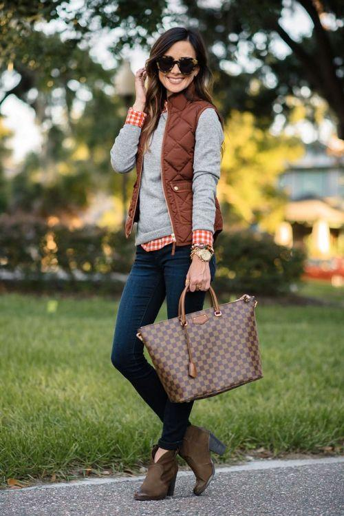 puffer vest fall outfit