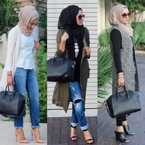 Fall stylish hijab street looks | | Just Trendy Girls