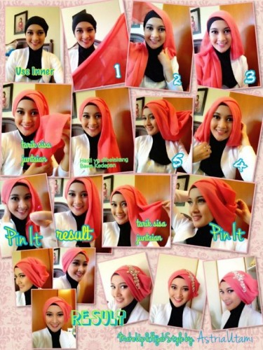 Tutorial hijab pesta simple for 2015