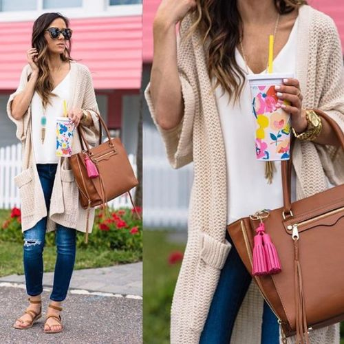 candy spring cardigan outfit