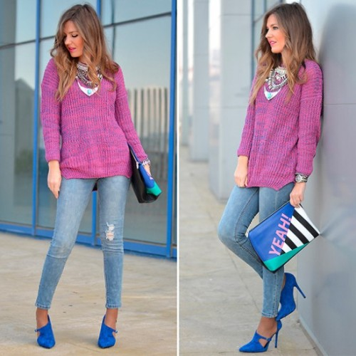 colorful winter sweater