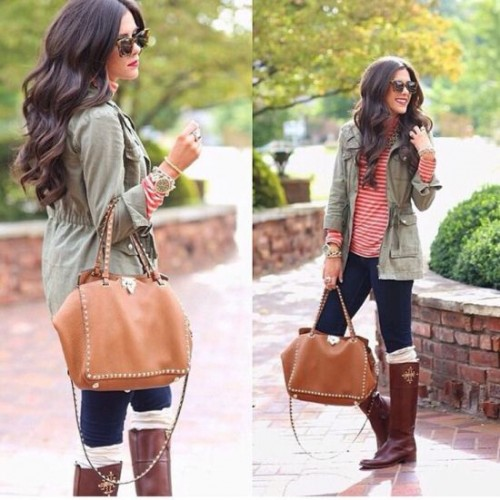 military jacket with stripes