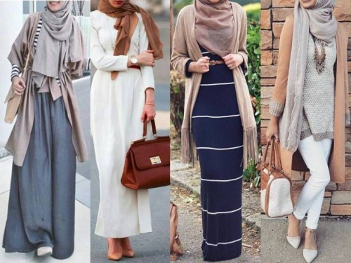 neutral hijab looks