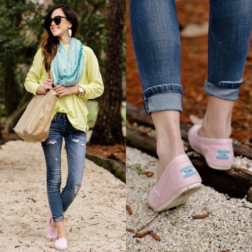 pastel sweater with scarf