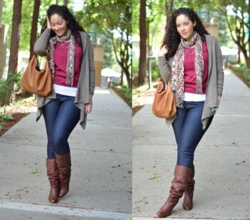 winter plus sizes outfits
