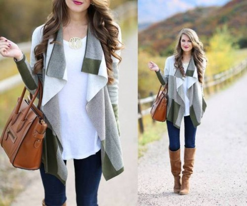 water fall gray cardigan