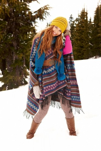 blanket poncho colorful outfit
