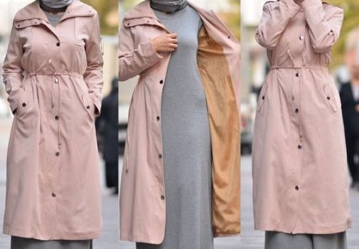 Neutral winter hijab outwears