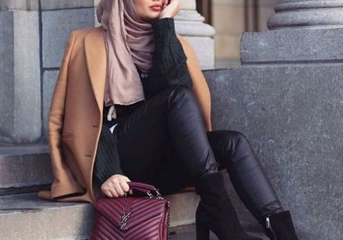 Modest hijab outfits for winter