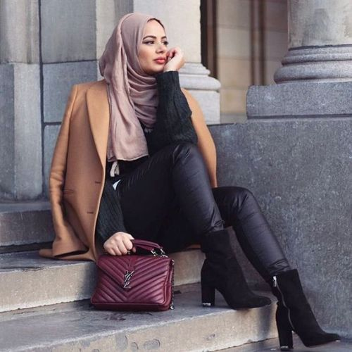 modest hijab outfits for winter just trendy girls. Black Bedroom Furniture Sets. Home Design Ideas