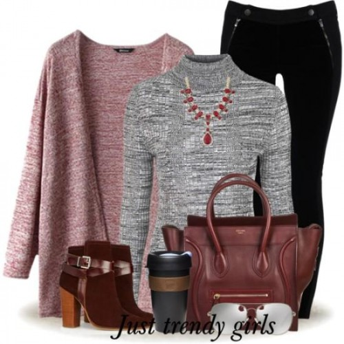 earthy maroon outfit,