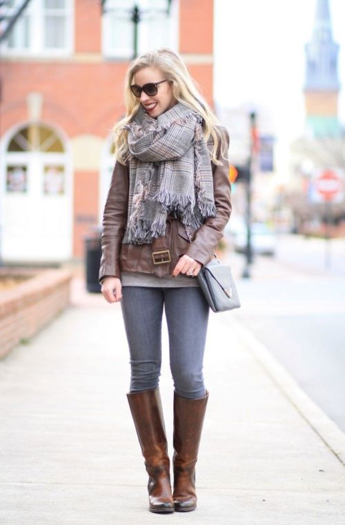 fall tall boots outfit