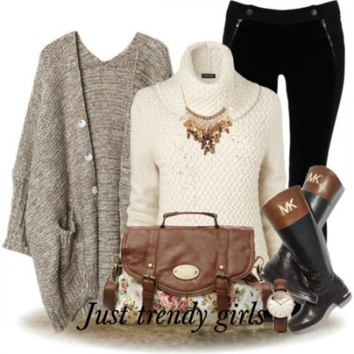gray knit cardigan outfit,
