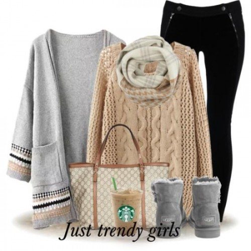 gray neutral fall outfit,