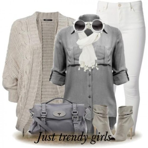 gray tones winter outfit