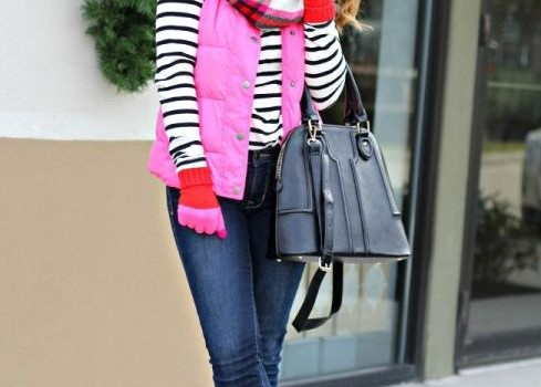 Winter outfits ideas in pop colors