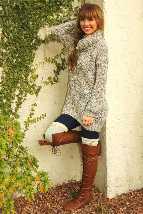 knit long sweater outfit