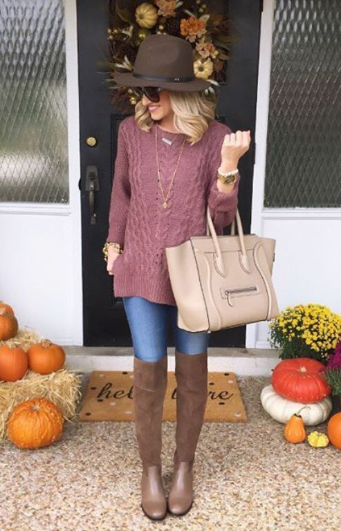 knit sweater outfit