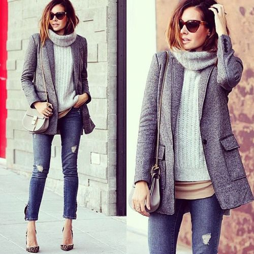 sleek winter outfit