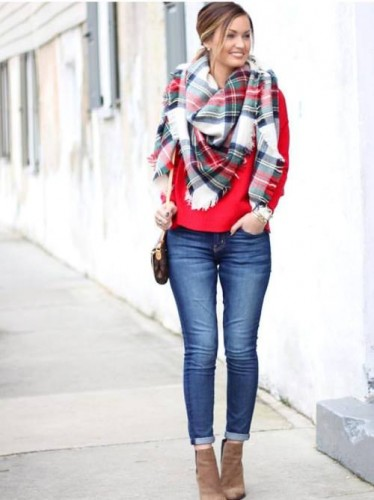 Winter outfits ideas in pop colors u2013 Just Trendy Girls